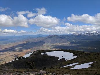 Top of Burney mountain