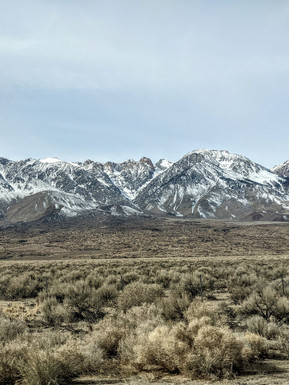 The Inyo mountains