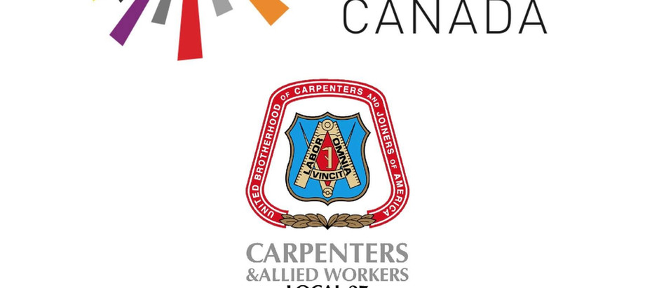 The Carpenters' Union Local 27 is proud to be a partner of Pride At Work Canada!