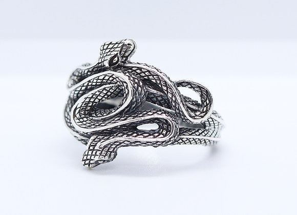 Chunky Double Snake Ring
