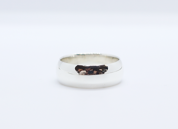 Plain Curved Band 8mm