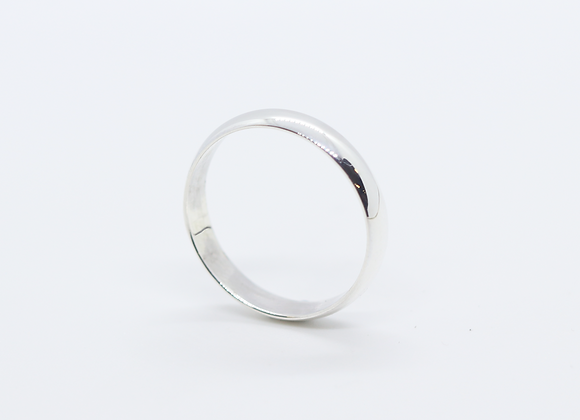 Plain Curved Band 4mm