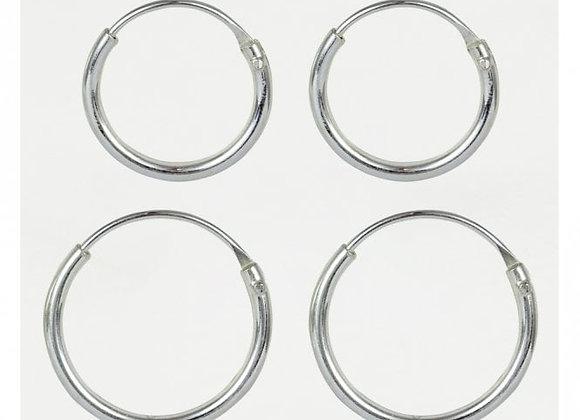 Silver Hoop Earings