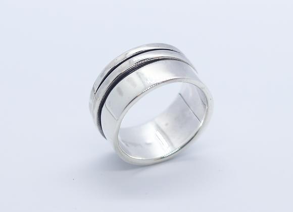 Wide Plain Spinner Ring