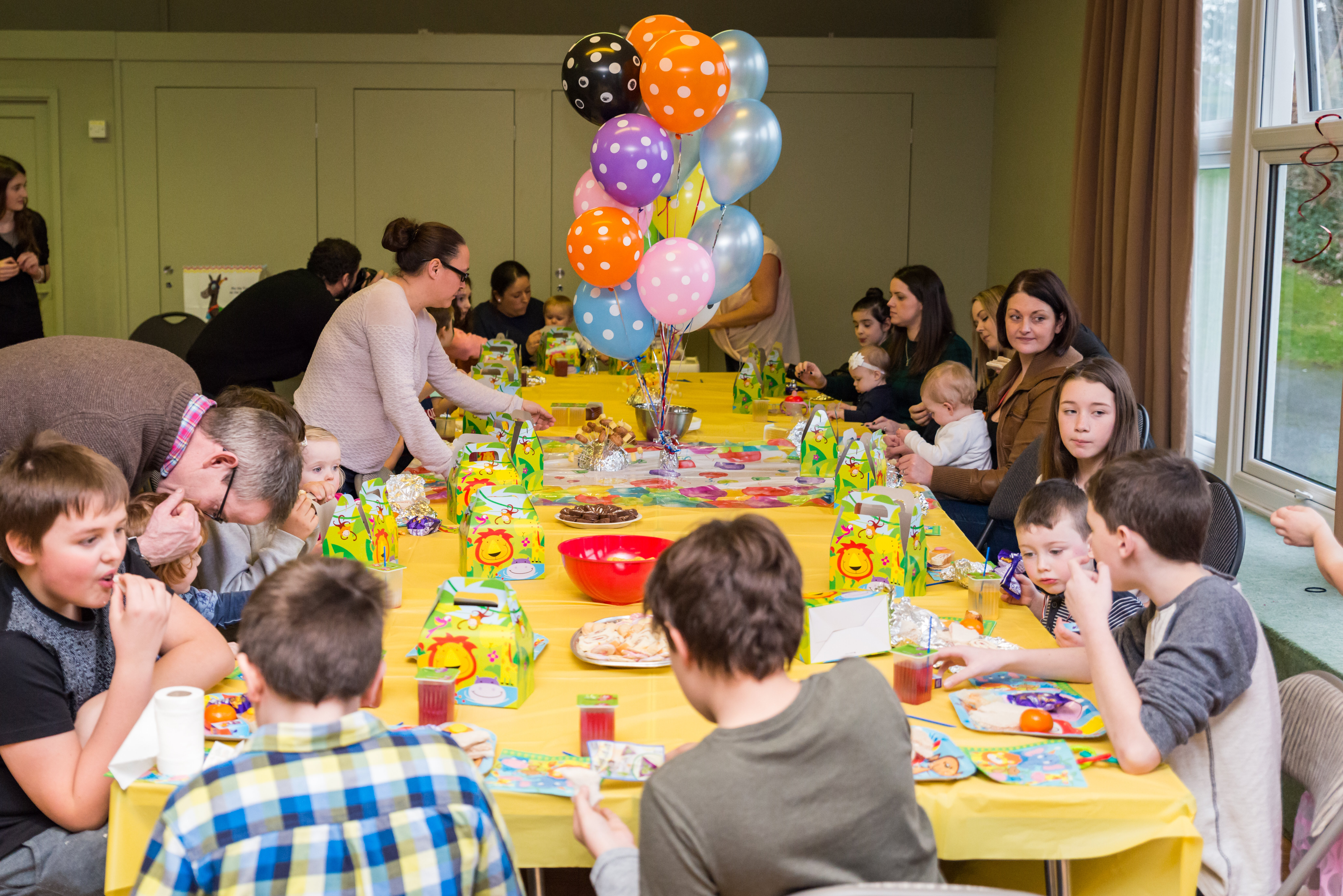 Children's party photography