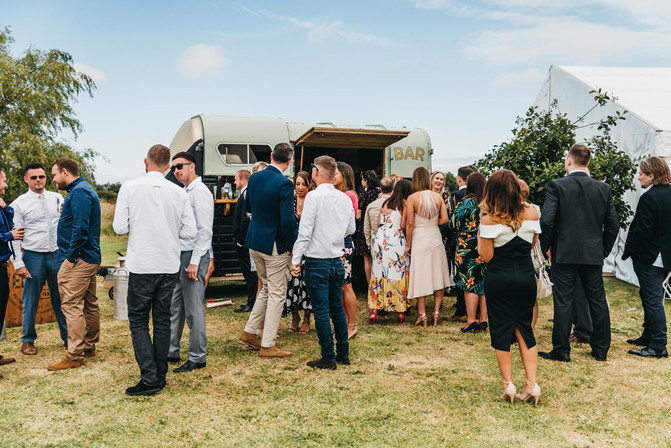 Cool festival vibe wedding photo
