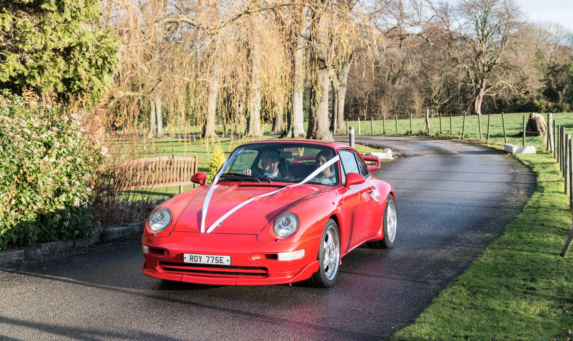 Northop Hall Red Porsche