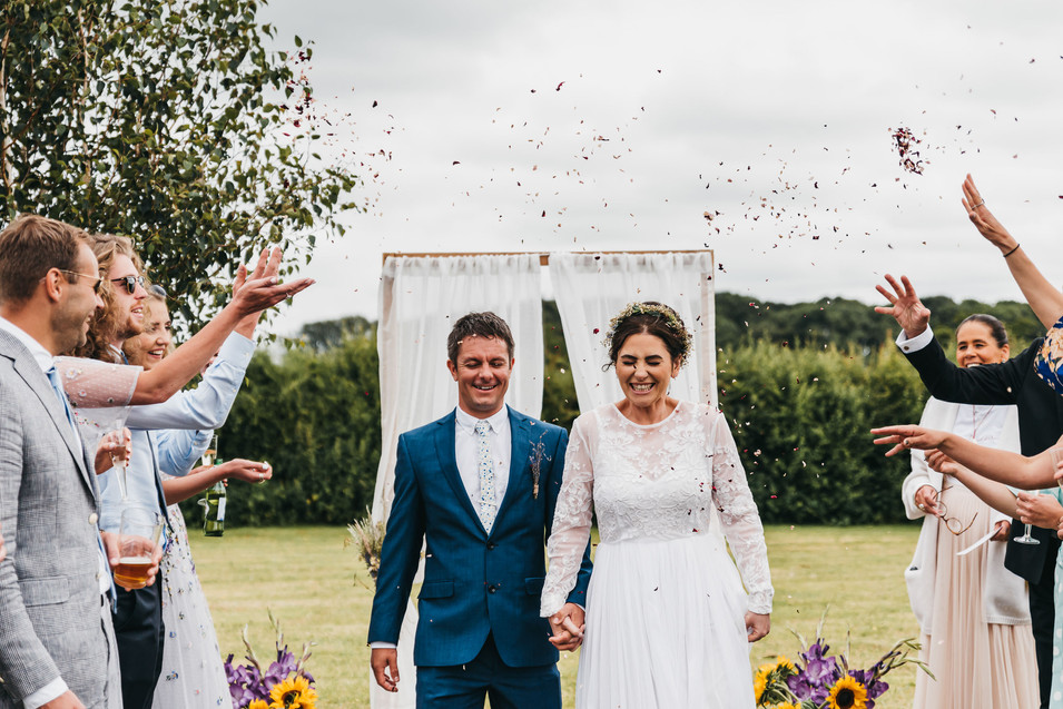 Outdoors wedding photography Cheshire