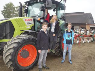 Agrarschüler am 2. Oktober beim Feldtag