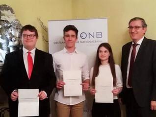 Kerstin Ametsreiter, HAK Ried erhielt Stipendium der Nationalbank