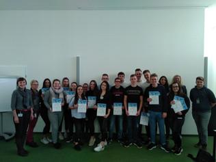 Die SAP Gruppe der 5. Klasse zu Besuch bei FACC in St. Martin