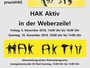 HAK-Aktiv in der Weberzeile