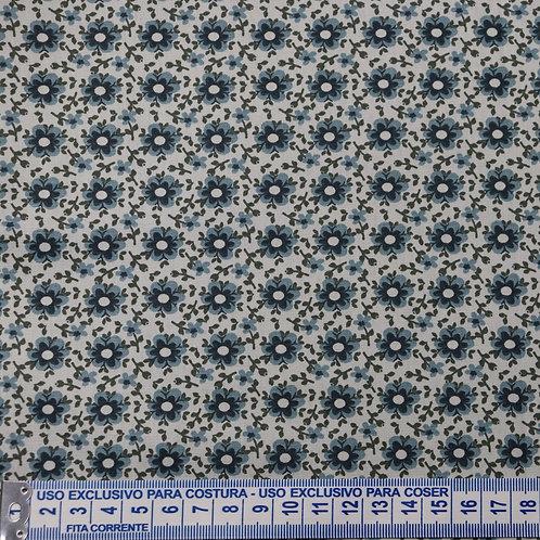 Tricoline Florido Delicado Azul 0,50 x 1,40m