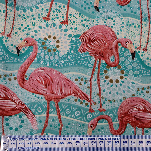Tricoline  Digital Flamingos 0,50 x 1,40m