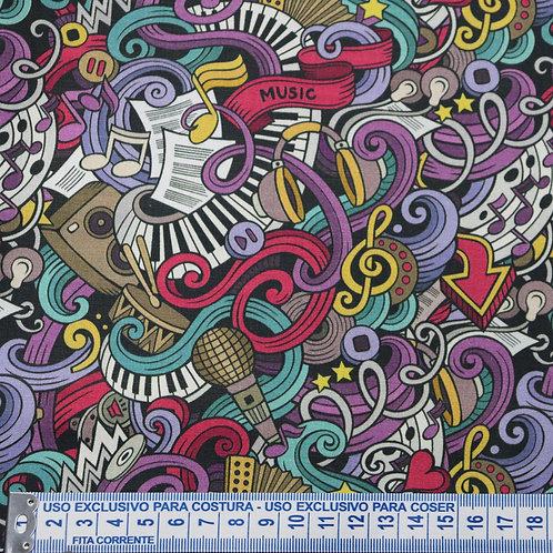 Tricoline  Music 0,50 x 1,40m