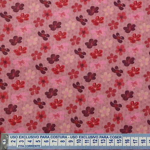 Tricoline Flor de Cerejeira Rosa 0,50 x 1,40m