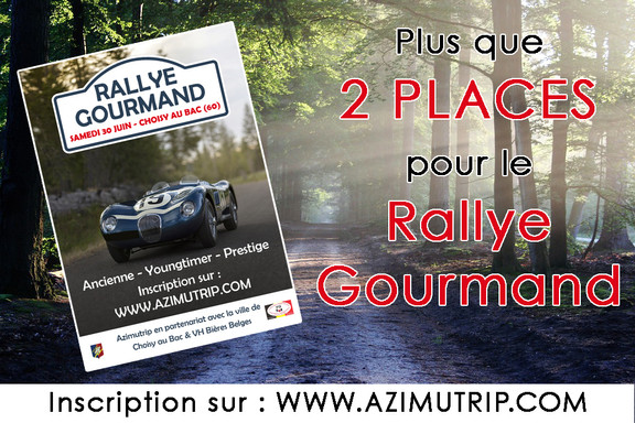 [AZIMUTRIP] Plus que 2 places : Rallye Gourmand