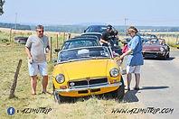 Rallye auto gourmand Azimutrip en picardie, rallye auto mg gastronomique oise, photo mg b rallye, découverte de la picardie en voiture ancienne, budapest rally france,