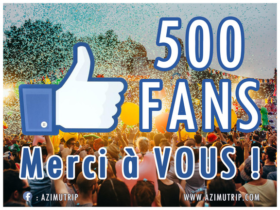 [FACEBOOK] 500 J'Aime => MERCI !