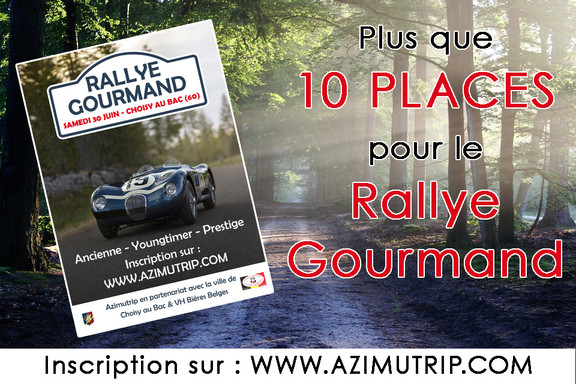 [AZIMUTRIP] Plus que 10 places : Rallye Gourmand