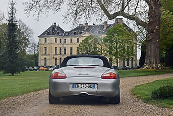 Photo porsche boxster 986 rallye automobile château Montgobert aisne soisson 02