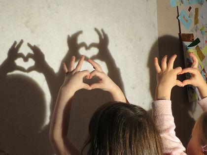 Students making Shadows