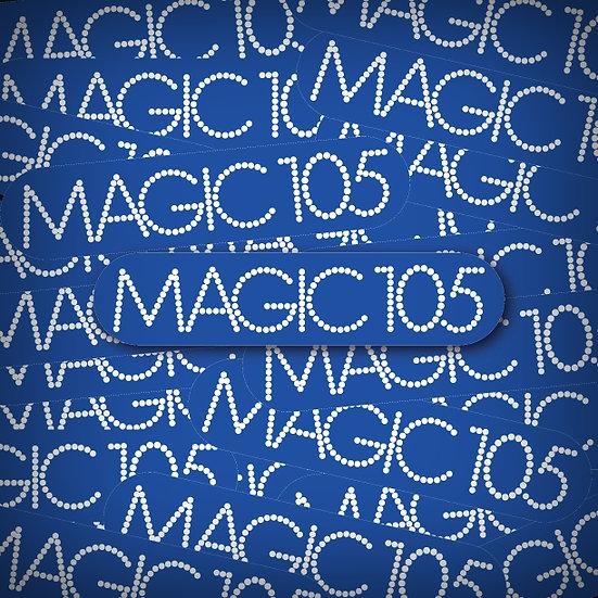 Magic 105 KMJX Little Rock Vintage Retro Radio Blue Logo Sticker