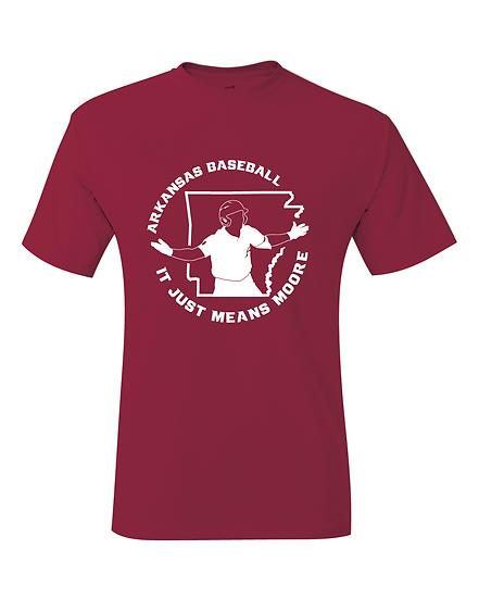 It Just Means Moore Robert Moore Arkansas Baseball Jersey T-Shirt