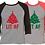 Thumbnail: Christmas Tree Lit AF Raglan Pajama T-Shirt