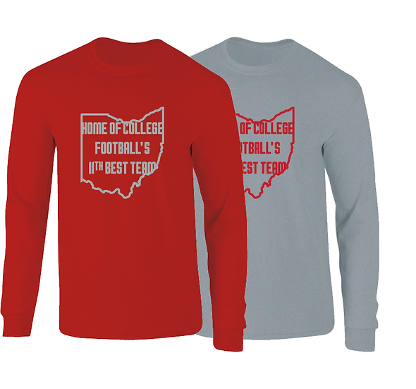 Ohio Ranked 11th Best Team In College Football Long Sleeve T-Shirt