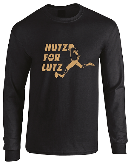 New Orleans Wil Lutz Nutz For Lutz Jersey Long Sleeve T-Shirt