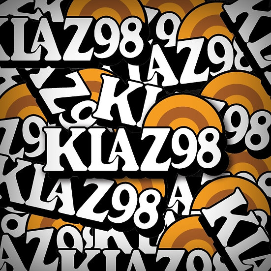 FM 98.5 KLAZ Little Rock Vintage Retro Radio Logo Bumper Sticker