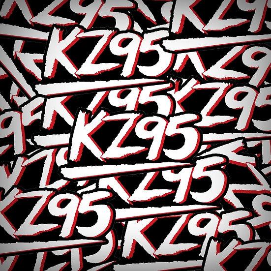 KZ95 KZLR Little Rock Vintage Retro Radio Sticker