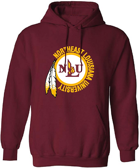 NLU Northeast Louisiana University Throwback Logo Hooded Sweatshirt Hoodie