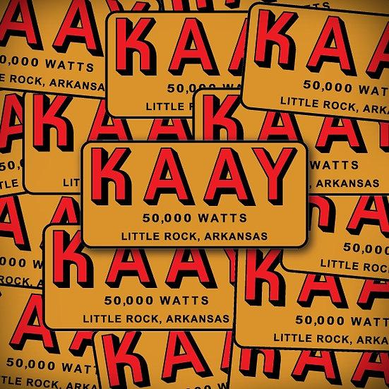 AM 1090 KAAY Little Rock Beaker Street Era Vintage Retro Radio Logo Stickers