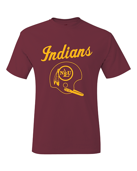 NLU Northeast Louisiana Throwback Football Helmet T-Shirt