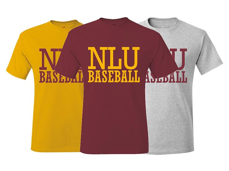 Northeast Louisiana NLU Baseball Warmup Throwback T-Shirt