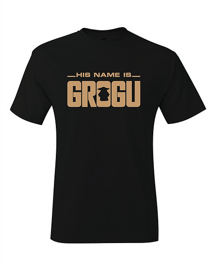 The Mandalorian His Name Is Grogu Baby Yoda Logo T-Shirt