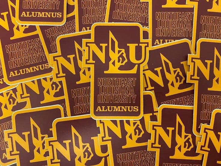 NLU Northeast Louisiana Indians Alumnus Sticker