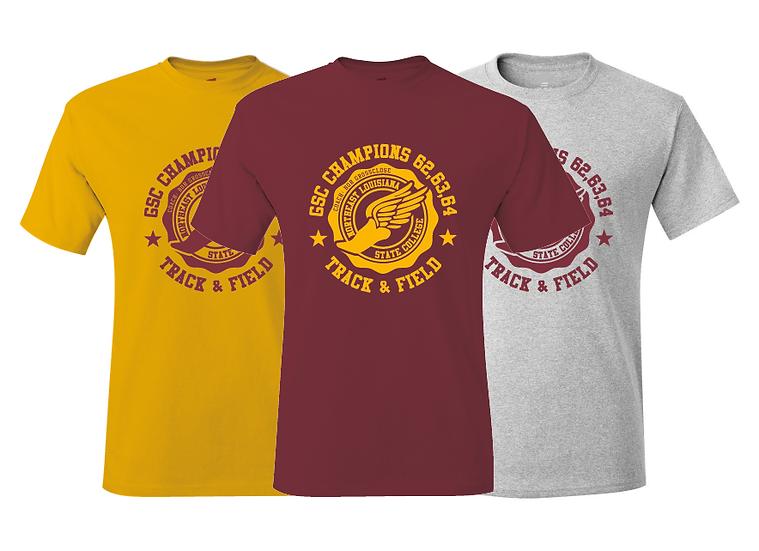 NLU Northeast Louisiana State College Track & Field Champions Throwback T-Shirt