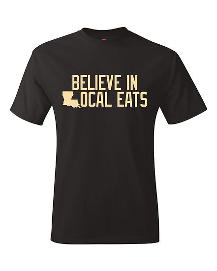 Louisiana Believe In Local Eats T-Shirt