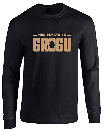 The Mandalorian His Name Is Grogu Baby Yoda Long Sleeve T-Shirt