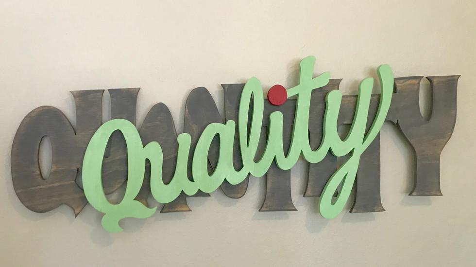 Quality over Quantity (2018)