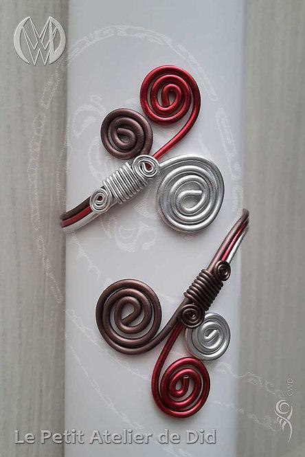 Bracelet « Féérie Cerise-Chocolat »