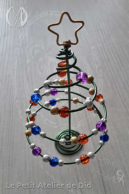 Objet décoratif « Magie de Noël » - Sapin de Noël (Vue de dessus)