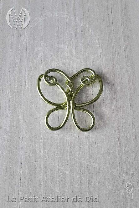 Pendentif « Le Papillon » Vert Pomme
