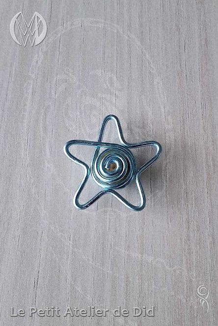 Pendentif « Etoile stylée perlée » [V2] Bleu Glacé