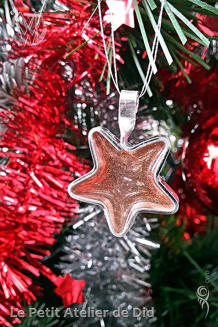 Décoration festive « Étoile scintillante » 3.0 (Vue de face, sur sapin de Noël - Zoom 1)