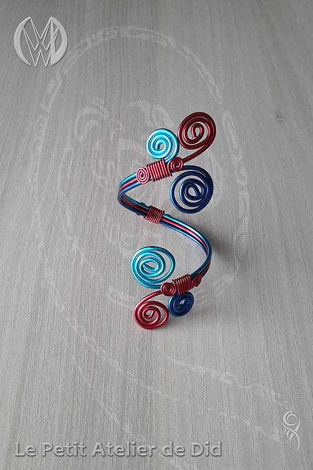 Bracelet « Bleu et Rouge »