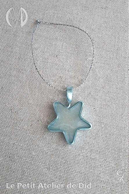 Décoration « Étoile scintillante » Ciel blanc n°1 (Vue de dessus, recto)